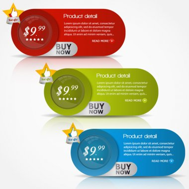 Buy buttons, vector design stock vector