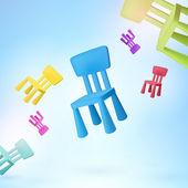 Varrat nélküli színes szék vektor