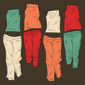 Womens clothing. Vector illustration.