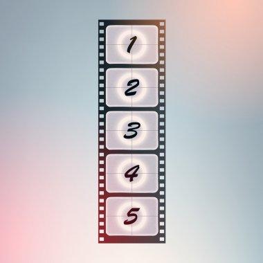 Film countdown. vector design. stock vector