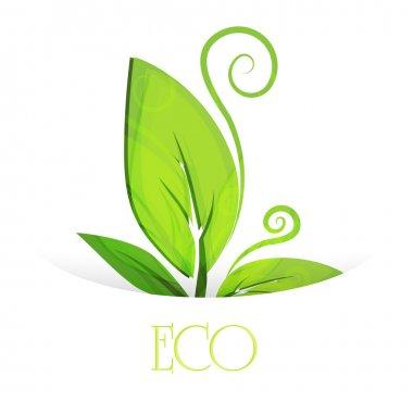 Eco leaves. vector design stock vector