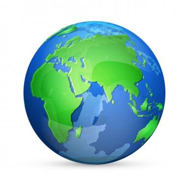 Earth icon, vector design stock vector