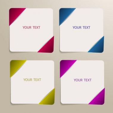 Set of vector banners for your text stock vector