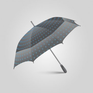 Vector illustration of a umbrella. stock vector