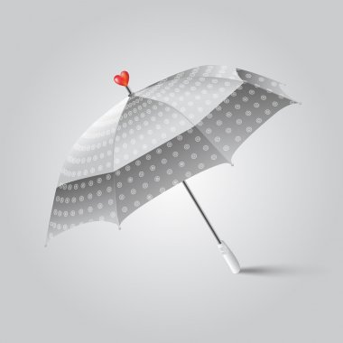 Vector illustration of a umbrella with heart. stock vector