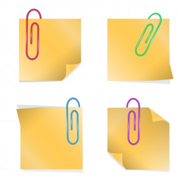 Yellow stick notes, vector design stock vector
