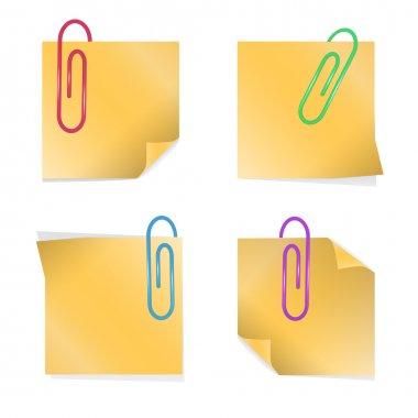 Yellow stick notes, vector design stock vector