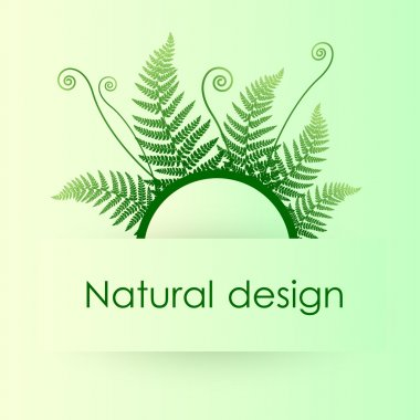 Vector green background with fern leafs stock vector