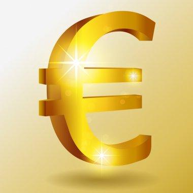 Vector golden euro symbol stock vector