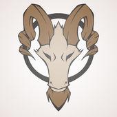 horská koza vektorové ilustrace