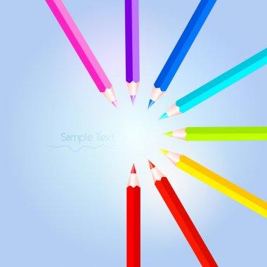 Vector colorful pencil set stock vector