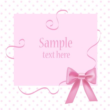 Greeting card with place for your text. Vector. stock vector