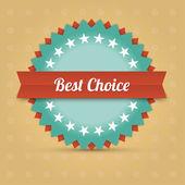 Vector best choice label