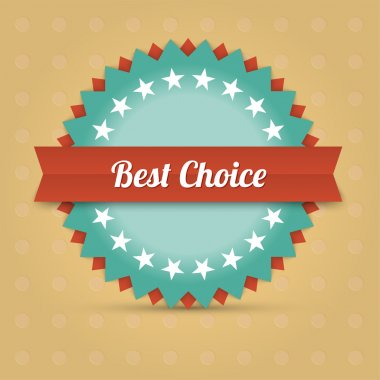 Vector best choice label stock vector