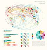 Infografika prvky, vektorová design