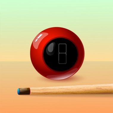 8 Ball and Stick. Vector Drawing