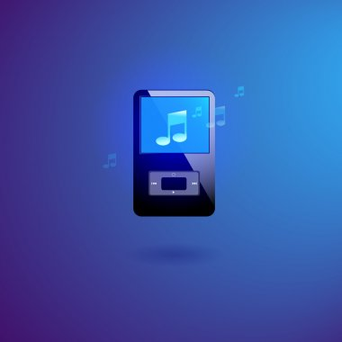 Music player vector illustration stock vector