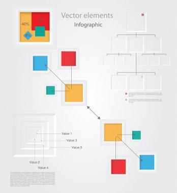 Infographic elements, vector design stock vector