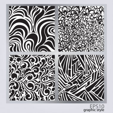 Vector set of abstract backgrounds. stock vector