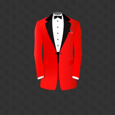 Red suit vector illustration stock vector