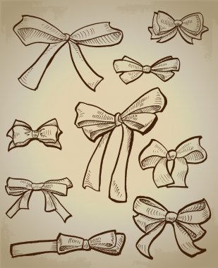 Vector collection of bows stock vector