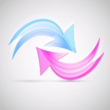 Two arrows. vector design stock vector