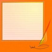 dopisní papír. vektorové ilustrace.