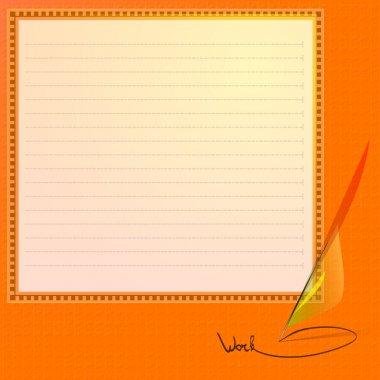 Note Paper. Vector Illustration. stock vector