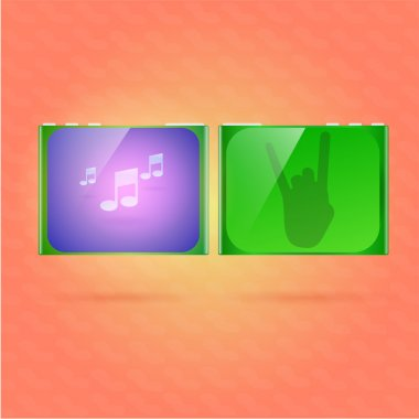 Music player vector illustration stock vector