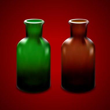 Empty glass jar. Vector design stock vector