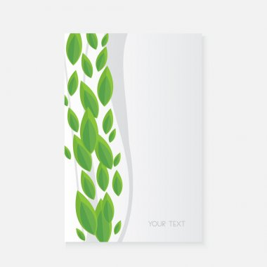 Vector banner with green leaves stock vector