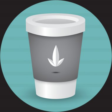 A coffee cup vector illustration stock vector