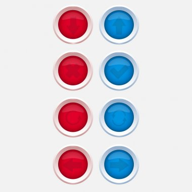 Vector web buttons with navigations icon stock vector