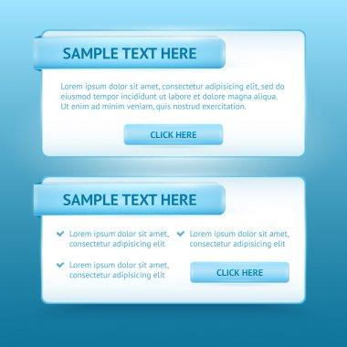 Blue website design templates stock vector