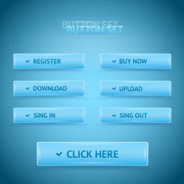 Vector premium web buttons. stock vector