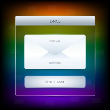 Email icon graphics button. Vector illustration stock vector