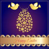 Happy Velikonoční přání - vektorové ilustrace