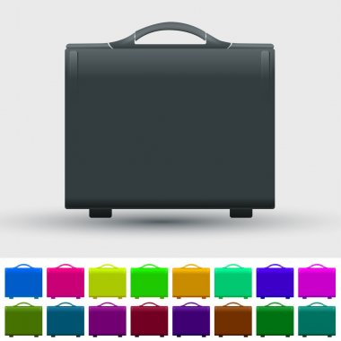 Set of travel suitcases stock vector