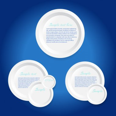 Circle vector frames on blue background stock vector