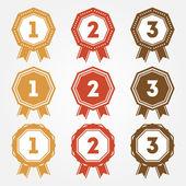 Set of vector retro ranking badges