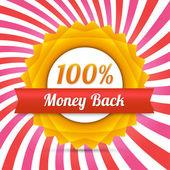 vektor pénzt vissza címke