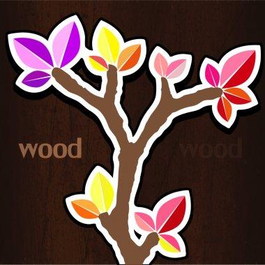 Vector illustration of spring tree. stock vector