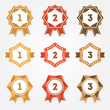 Set of vector retro ranking badges stock vector