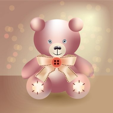 Cute teddy bear - vector illustration stock vector