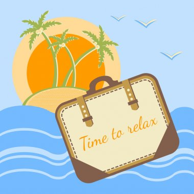 Summer holidays concept background. Vector. stock vector