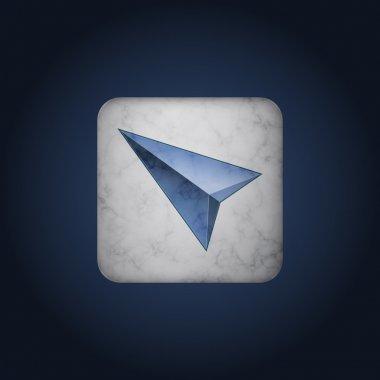 Vector blue cursor icon stock vector