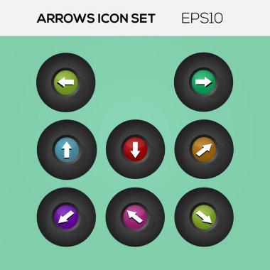 Set of arrows. Vector collection. stock vector