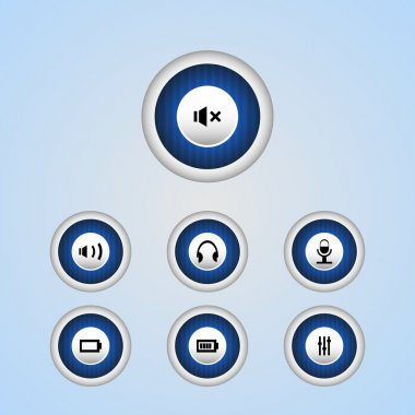 Vector media player buttons stock vector