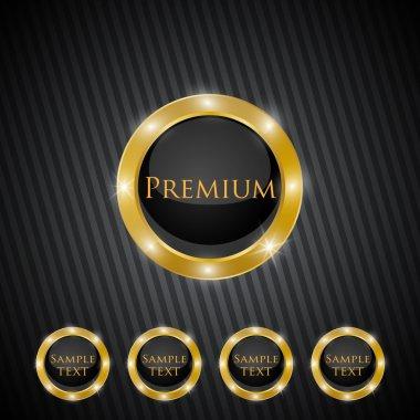 Vector premium quality golden labels stock vector