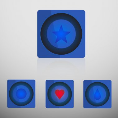 Simple vector internet buttons stock vector